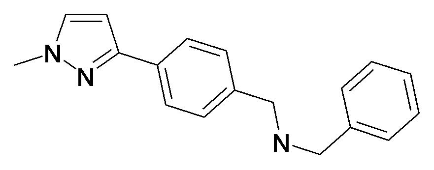 Benzyl-[4-(1-methyl-1H-pyrazol-3-yl)-benzyl]-amine