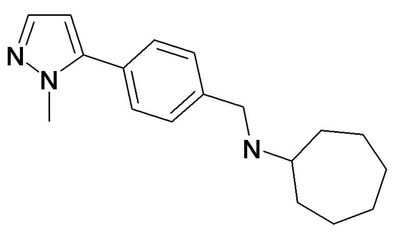 Cycloheptyl-[4-(2-methyl-2H-pyrazol-3-yl)-benzyl]-amine