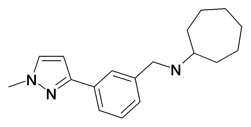 Cycloheptyl-[3-(1-methyl-1H-pyrazol-3-yl)-benzyl]-amine