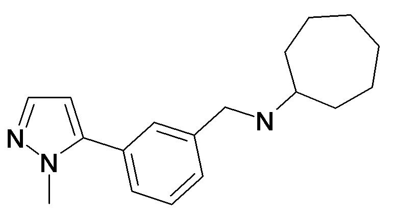 Cycloheptyl-[3-(2-methyl-2H-pyrazol-3-yl)-benzyl]-amine
