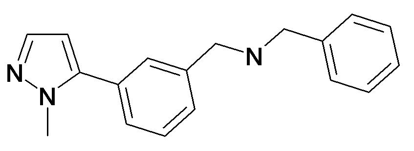 Benzyl-[3-(2-methyl-2H-pyrazol-3-yl)-benzyl]-amine