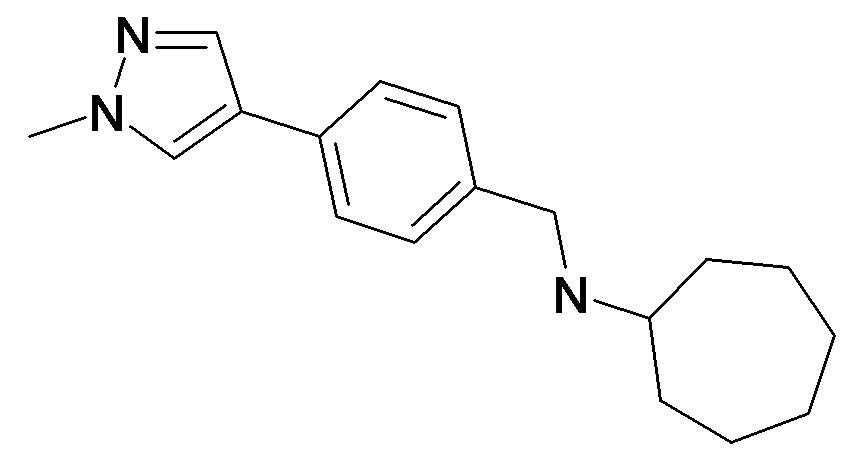 Cycloheptyl-[4-(1-methyl-1H-pyrazol-4-yl)-benzyl]-amine