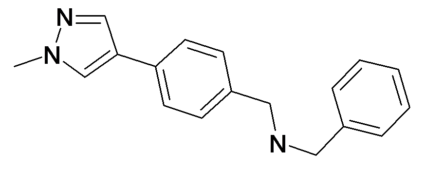 Benzyl-[4-(1-methyl-1H-pyrazol-4-yl)-benzyl]-amine