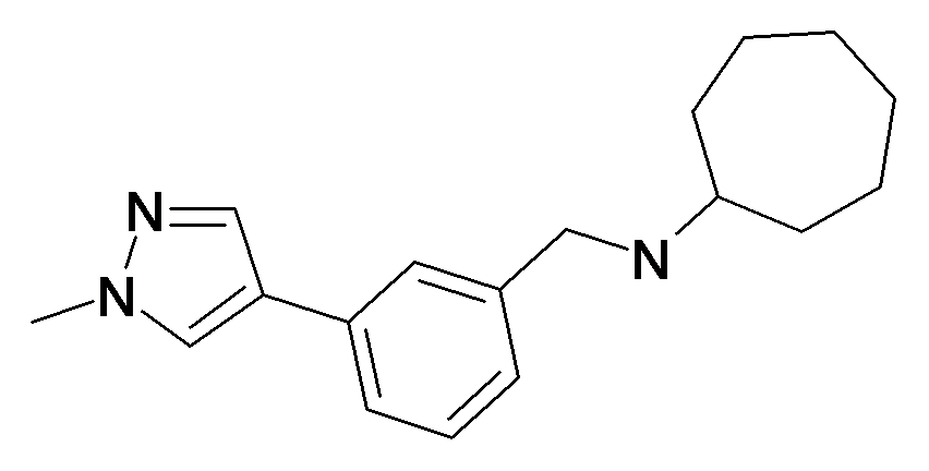 Cycloheptyl-[3-(1-methyl-1H-pyrazol-4-yl)-benzyl]-amine