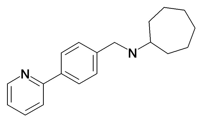 Cycloheptyl-(4-pyridin-2-yl-benzyl)-amine