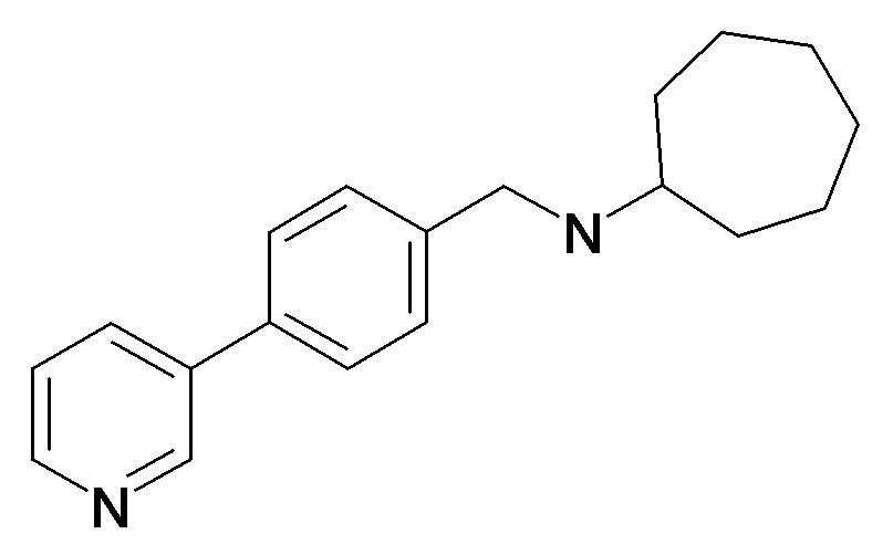 Cycloheptyl-(4-pyridin-3-yl-benzyl)-amine