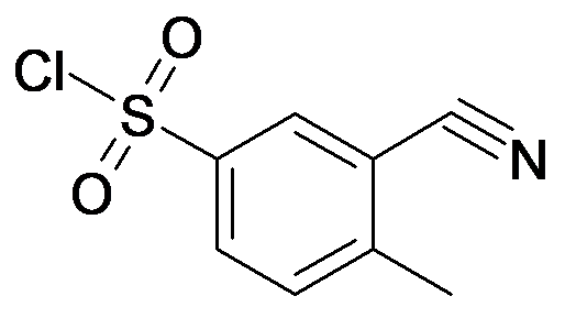 3-Cyano-4-methyl-benzenesulfonyl chloride