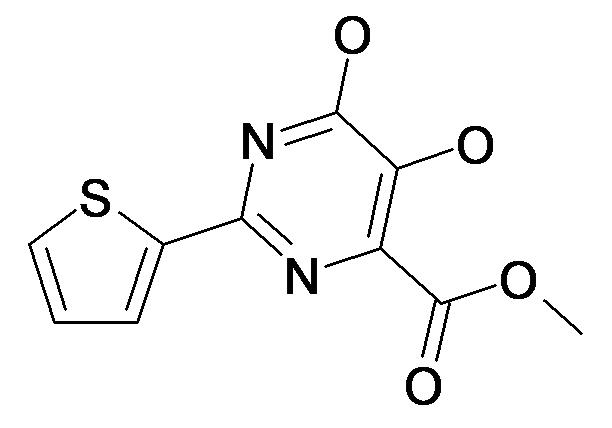 5,6-Dihydroxy-2-thiophen-2-yl-pyrimidine-4-carboxylic acid methyl ester