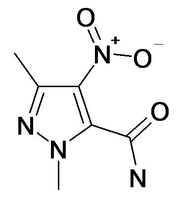 2,5-Dimethyl-4-nitro-2H-pyrazole-3-carboxylic acid amide