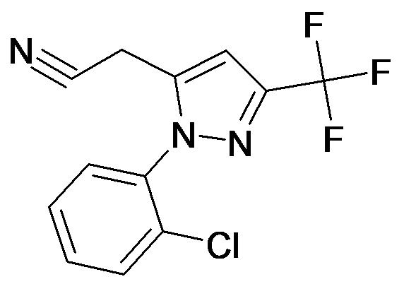 [2-(2-Chloro-phenyl)-5-trifluoromethyl-2H-pyrazol-3-yl]-acetonitrile