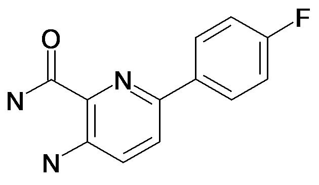 3-Amino-6-(4-fluoro-phenyl)-pyridine-2-carboxylic acid amide