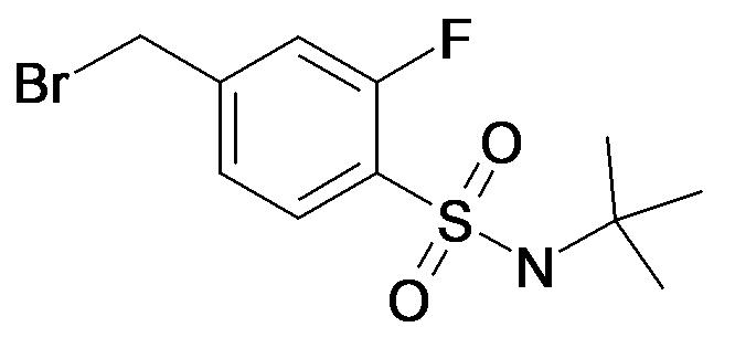 4-Bromomethyl-N-tert-butyl-2-fluoro-benzenesulfonamide