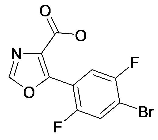 5-(4-Bromo-2,5-difluoro-phenyl)-oxazole-4-carboxylic acid