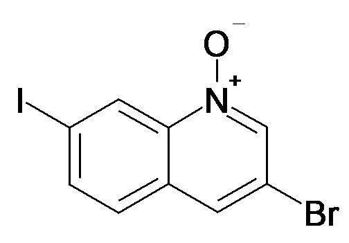 3-Bromo-7-iodo-quinoline 1-oxide