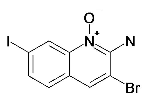 3-Bromo-7-iodo-1-oxy-quinolin-2-ylamine
