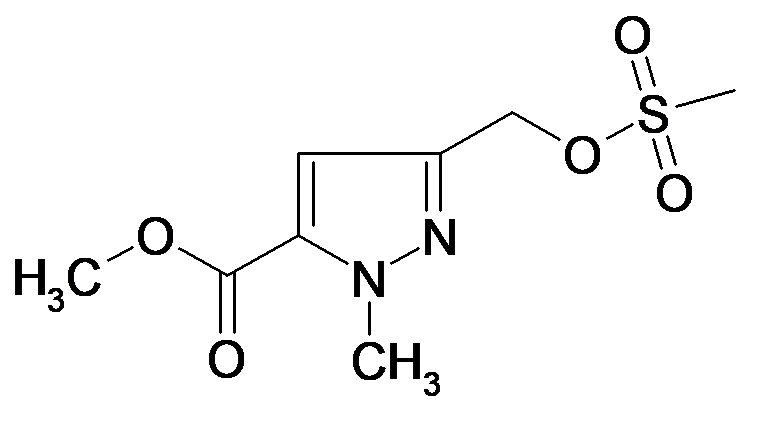 5-Methanesulfonyloxymethyl-2-methyl-2H-pyrazole-3-carboxylic acid methyl ester