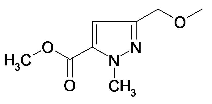 5-Methoxymethyl-2-methyl-2H-pyrazole-3-carboxylic acid methyl ester