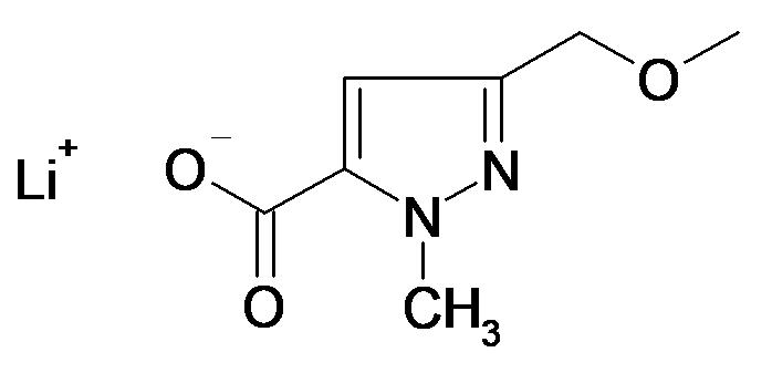 Lithium; 5-methoxymethyl-2-methyl-2H-pyrazole-3-carboxylate