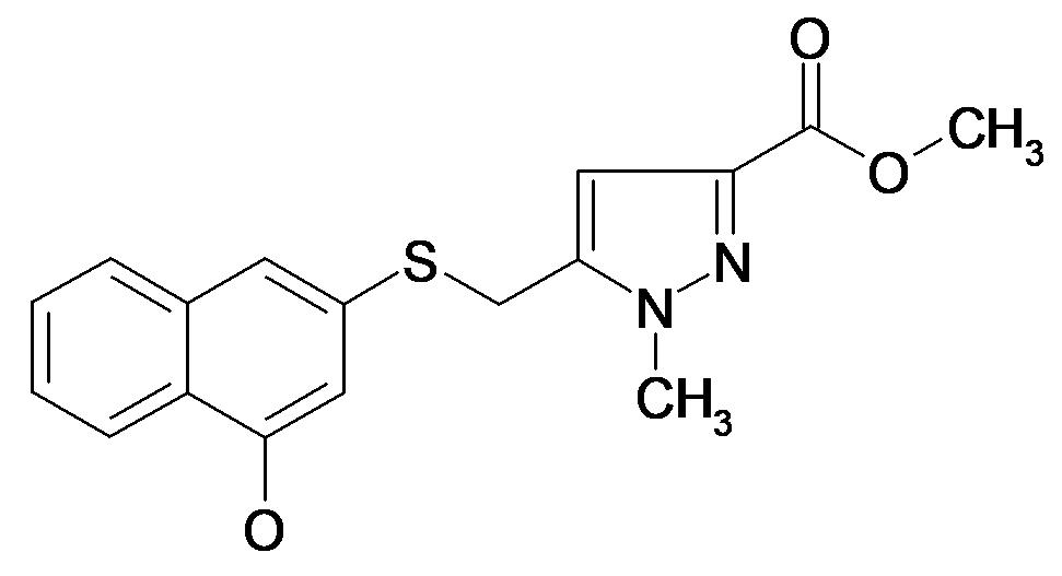 5-(4-Hydroxy-naphthalen-2-ylsulfanylmethyl)-1-methyl-1H-pyrazole-3-carboxylic acid methyl ester