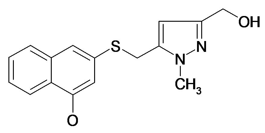 3-(5-Hydroxymethyl-2-methyl-2H-pyrazol-3-ylmethylsulfanyl)-naphthalen-1-ol