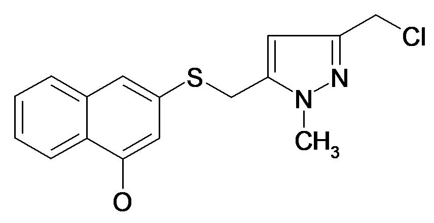 3-(5-Chloromethyl-2-methyl-2H-pyrazol-3-ylmethylsulfanyl)-naphthalen-1-ol
