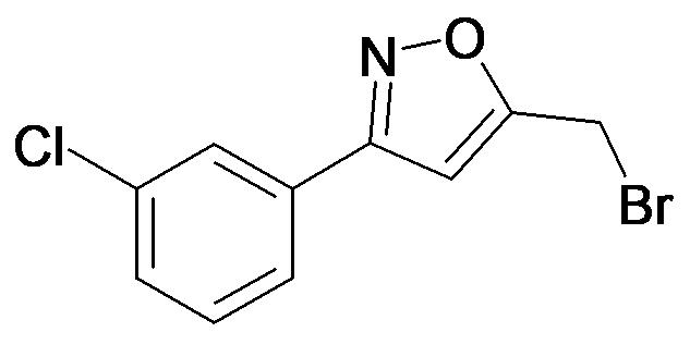 5-Bromomethyl-3-(3-chloro-phenyl)-isoxazole