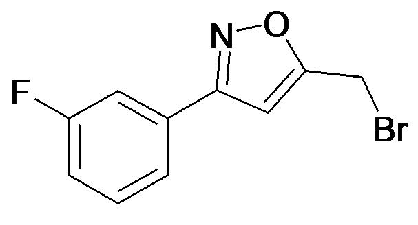 5-Bromomethyl-3-(3-fluoro-phenyl)-isoxazole