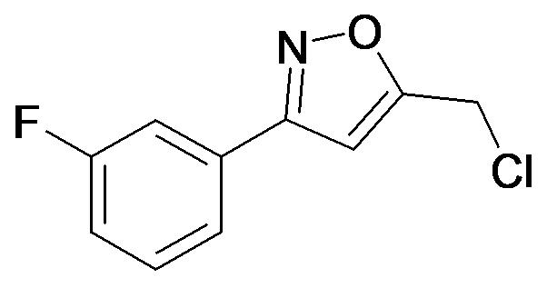 5-Chloromethyl-3-(3-fluoro-phenyl)-isoxazole