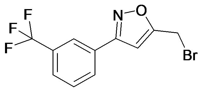 5-Bromomethyl-3-(3-trifluoromethyl-phenyl)-isoxazole