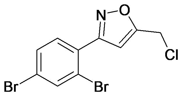 5-Chloromethyl-3-(2,4-dibromo-phenyl)-isoxazole