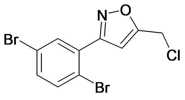 5-Chloromethyl-3-(2,5-dibromo-phenyl)-isoxazole