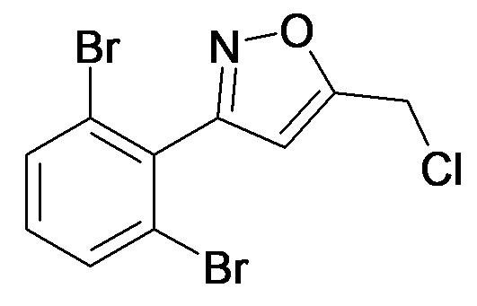 5-Chloromethyl-3-(2,6-dibromo-phenyl)-isoxazole