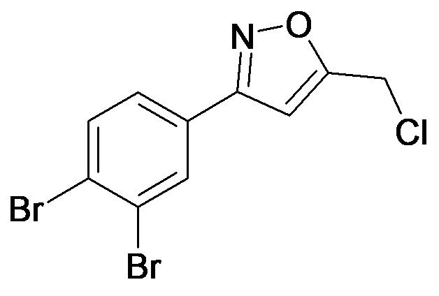 5-Chloromethyl-3-(3,4-dibromo-phenyl)-isoxazole
