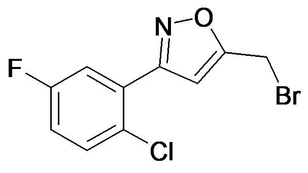 5-Bromomethyl-3-(2-chloro-5-fluoro-phenyl)-isoxazole