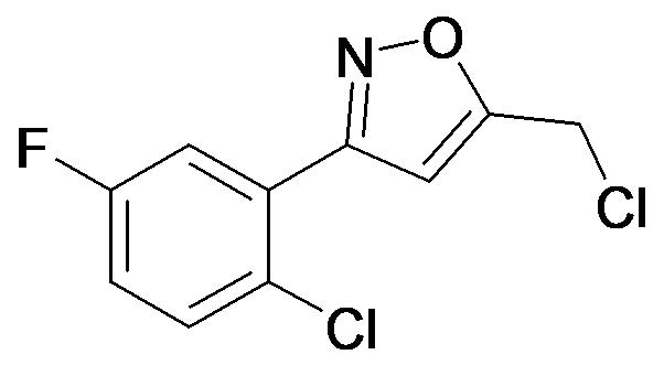 3-(2-Chloro-5-fluoro-phenyl)-5-chloromethyl-isoxazole