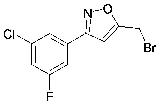 5-Bromomethyl-3-(3-chloro-5-fluoro-phenyl)-isoxazole