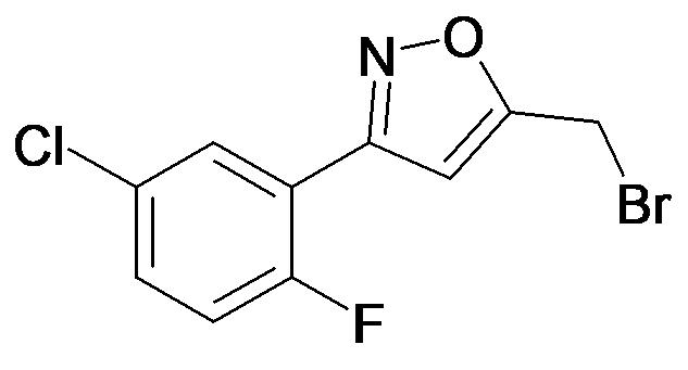 5-Bromomethyl-3-(5-chloro-2-fluoro-phenyl)-isoxazole