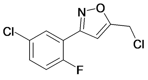 3-(5-Chloro-2-fluoro-phenyl)-5-chloromethyl-isoxazole