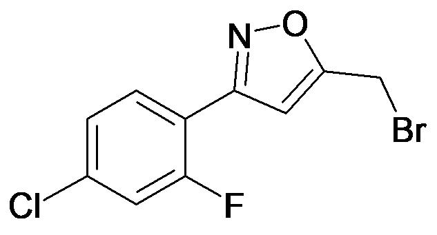 5-Bromomethyl-3-(4-chloro-2-fluoro-phenyl)-isoxazole