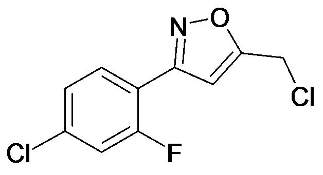 3-(4-Chloro-2-fluoro-phenyl)-5-chloromethyl-isoxazole