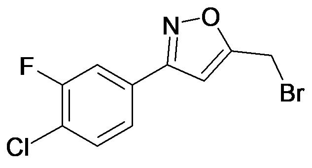 5-Bromomethyl-3-(4-chloro-3-fluoro-phenyl)-isoxazole