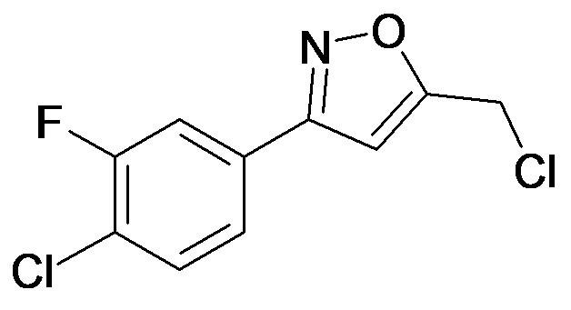 3-(4-Chloro-3-fluoro-phenyl)-5-chloromethyl-isoxazole