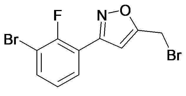 3-(3-Bromo-2-fluoro-phenyl)-5-bromomethyl-isoxazole
