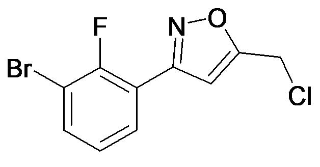 3-(3-Bromo-2-fluoro-phenyl)-5-chloromethyl-isoxazole