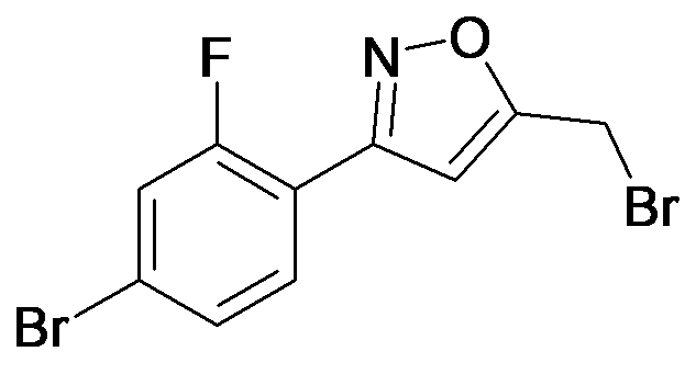 3-(4-Bromo-2-fluoro-phenyl)-5-bromomethyl-isoxazole