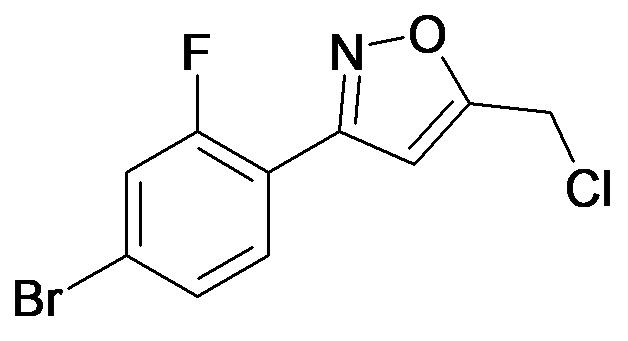3-(4-Bromo-2-fluoro-phenyl)-5-chloromethyl-isoxazole