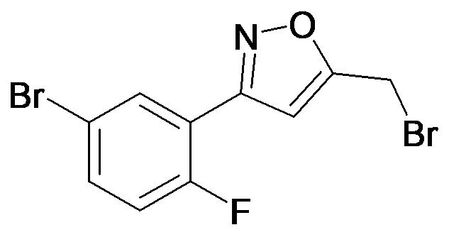 3-(5-Bromo-2-fluoro-phenyl)-5-bromomethyl-isoxazole