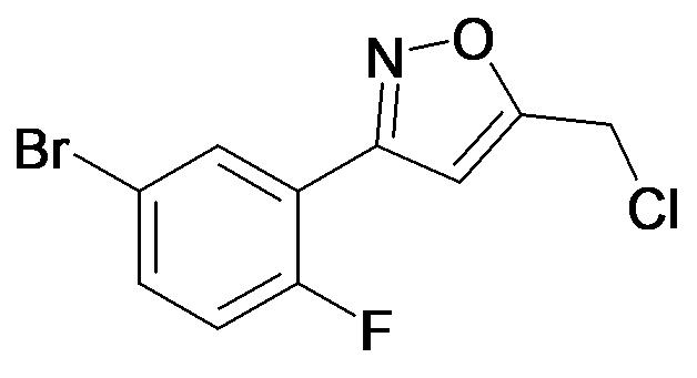3-(5-Bromo-2-fluoro-phenyl)-5-chloromethyl-isoxazole