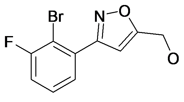 [3-(2-Bromo-3-fluoro-phenyl)-isoxazol-5-yl]-methanol
