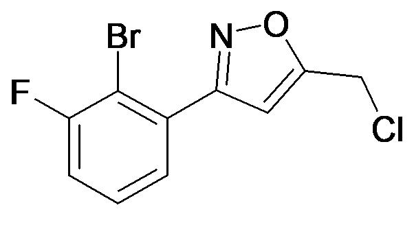 3-(2-Bromo-3-fluoro-phenyl)-5-chloromethyl-isoxazole
